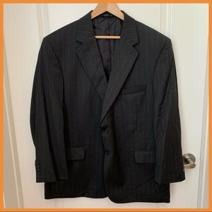 JoS A Bank 46S Charcoal Grey Pinstripe Suit Jacket